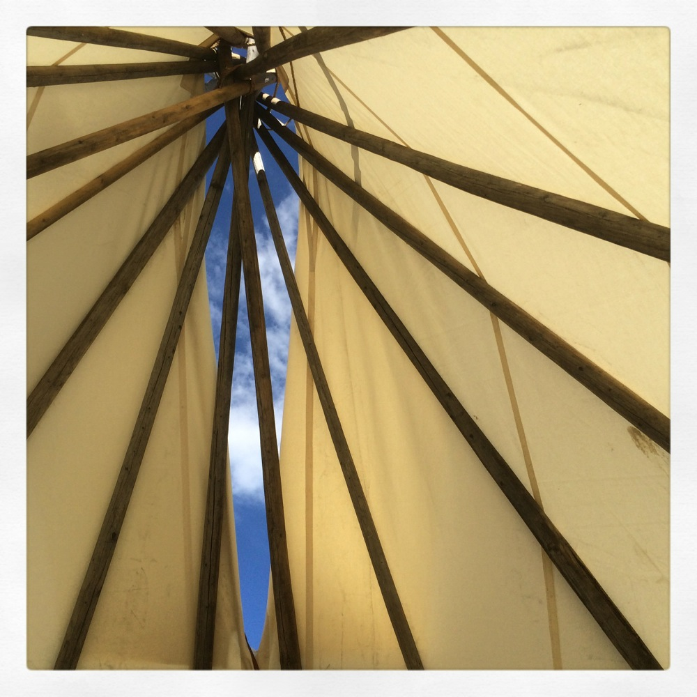 View from inside a tipi Credit Kirsten Akens 2015