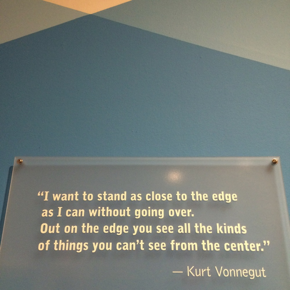 Vonnegut quote photo credit Kirsten Akens 2015