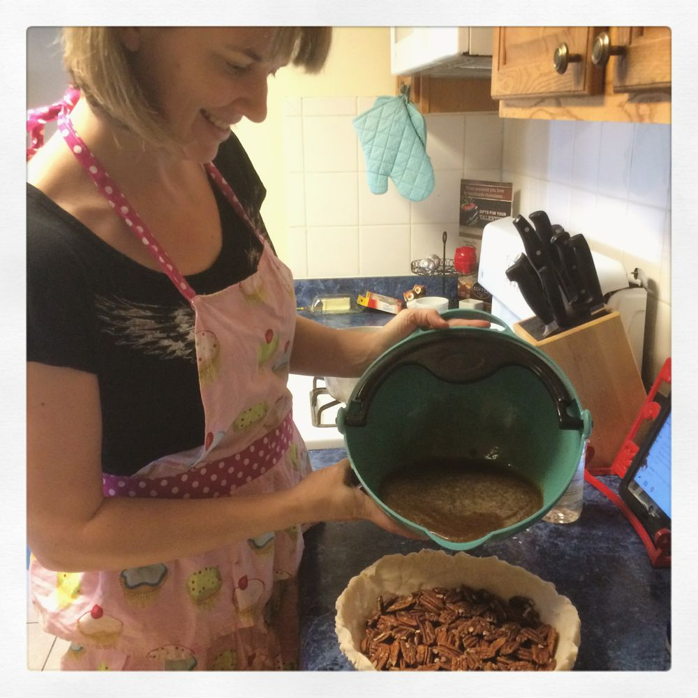 Baking Pecan Pie, courtesy Kirsten Akens 2016