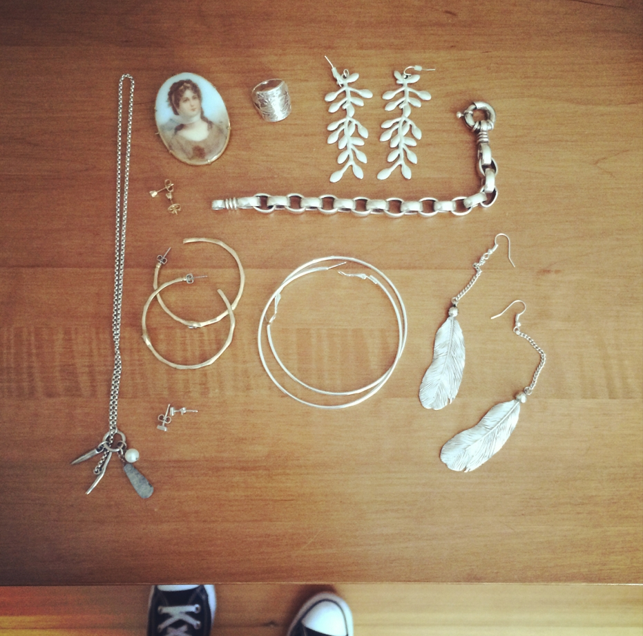 My jewelry for the next three months (and my Chucks)