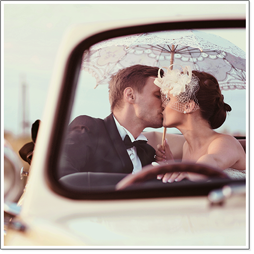 Couple kissing in convertible with umbrella snapshot.png