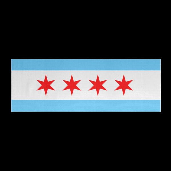 chicago flag yoga mat