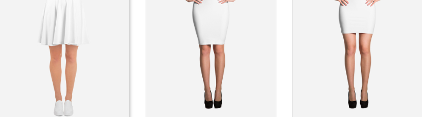 See the skirt options available at  Printful