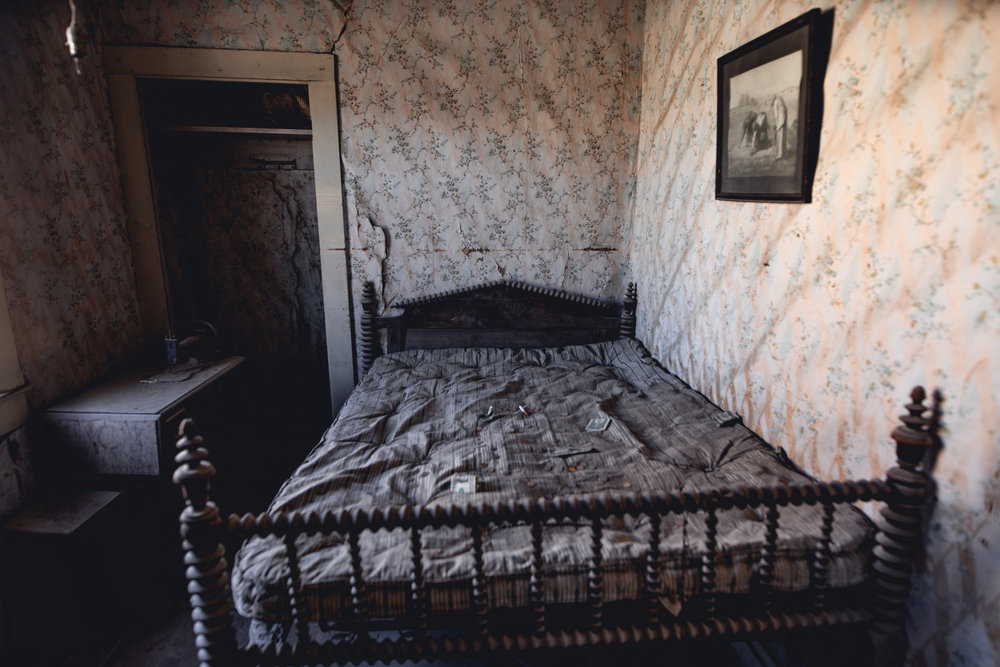 I didn't understand the phenomenon of people throwing money onto this bed and in to some of the houses.