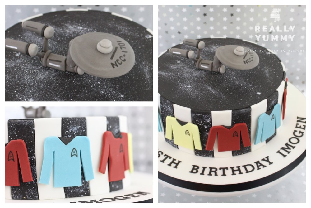 Retro Star Trek cake