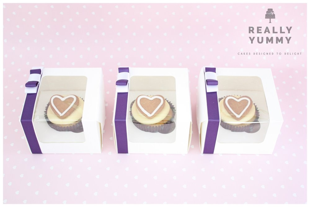 Boxed heart cupcakes
