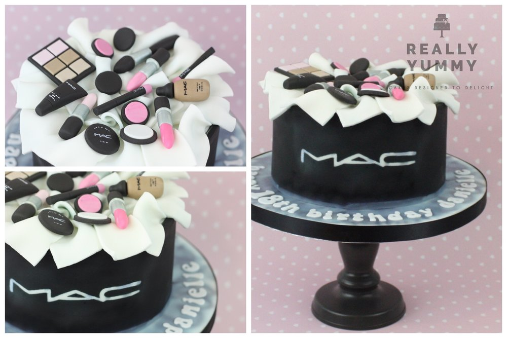 MAC make-up cake