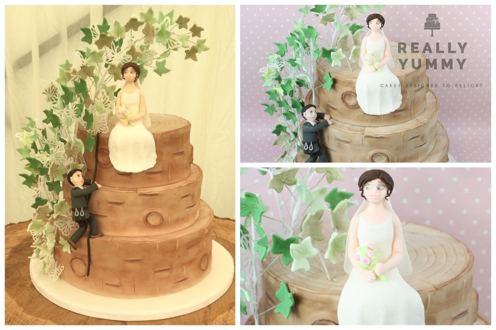 Tree surgeon's wedding cake