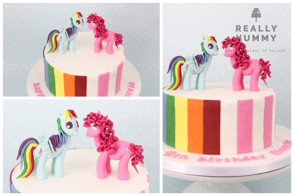 My Little Pony cake with Rainbow Dash