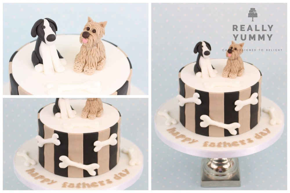 Dogs cake with bones
