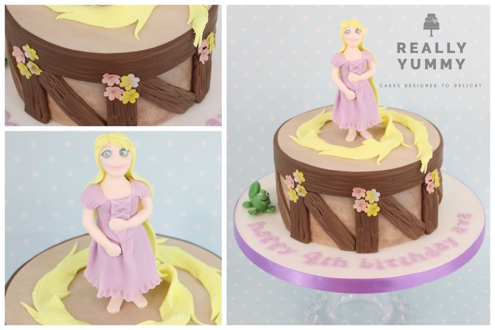 Tangled cake, with Rapunzel