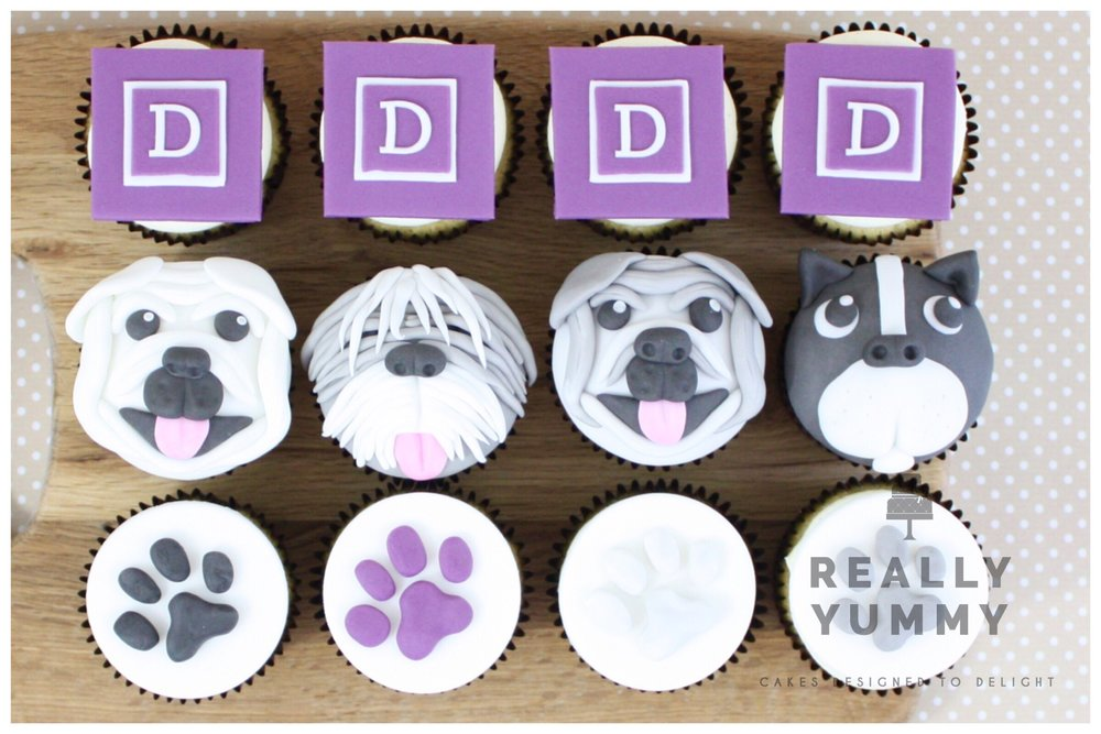 Dybles dog cupcakes