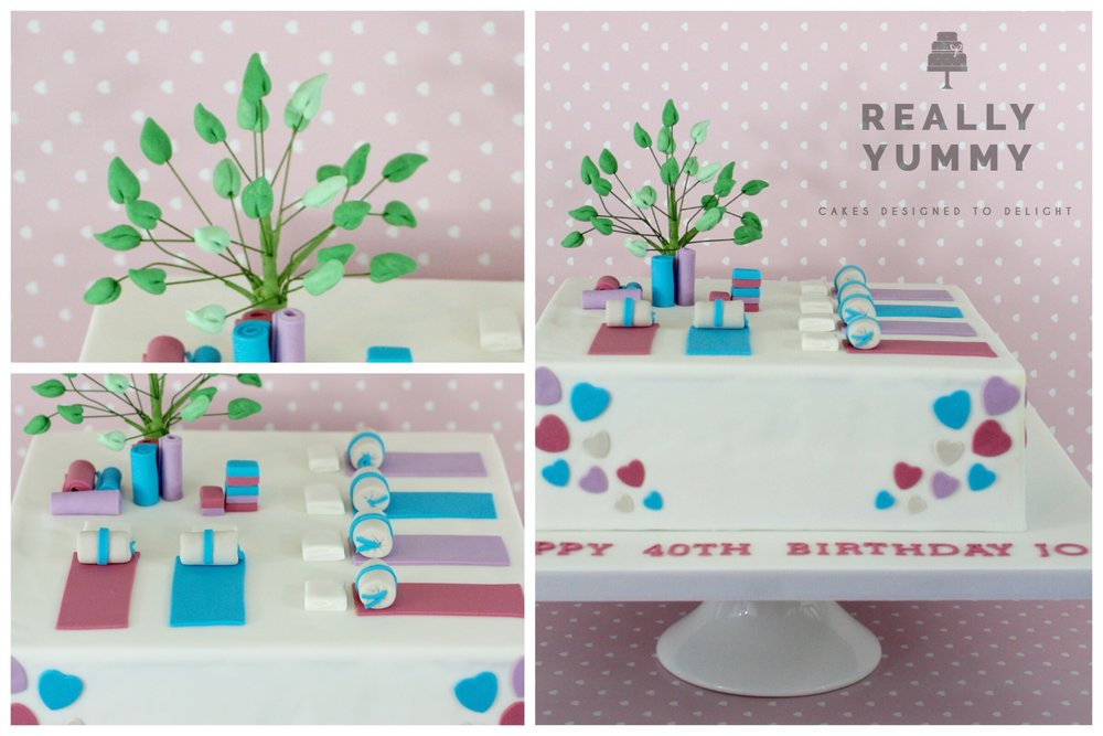 Yoga 40th birthday cake