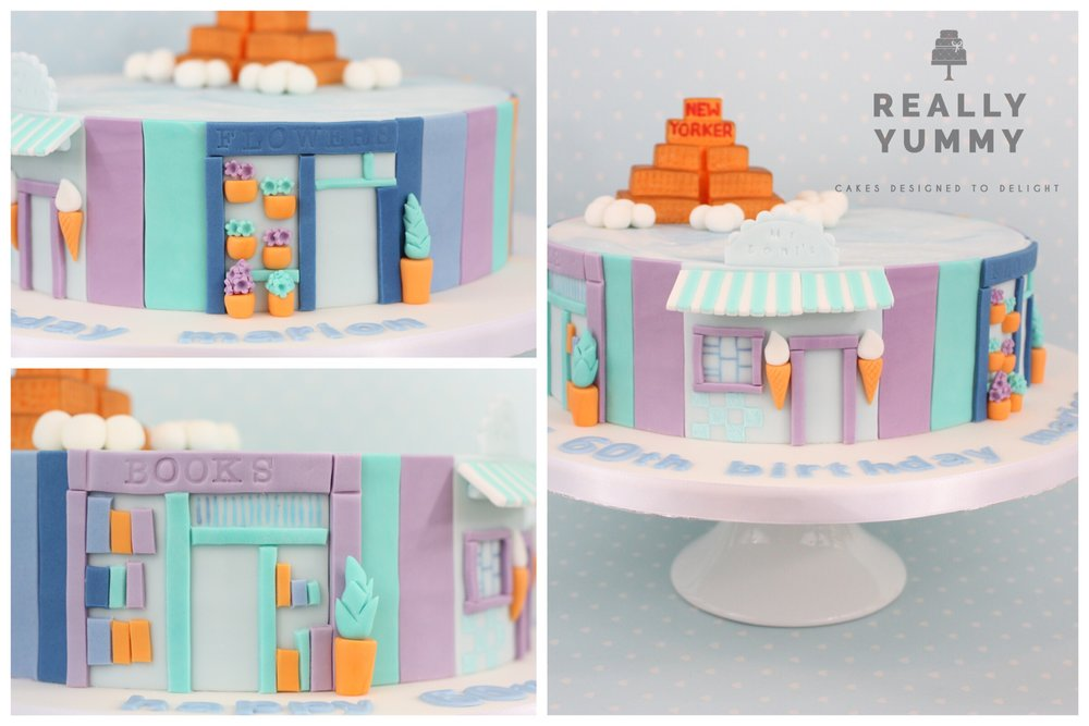 Ice cream shop cake