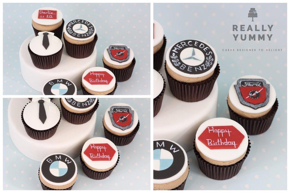 Classic car cupcakes