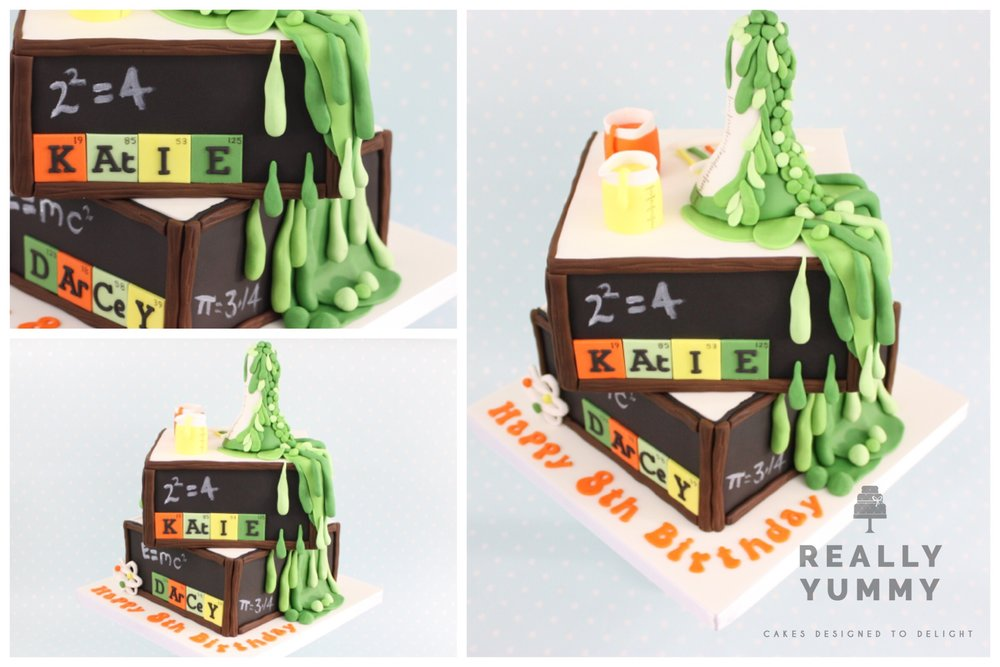 Slimy science cake