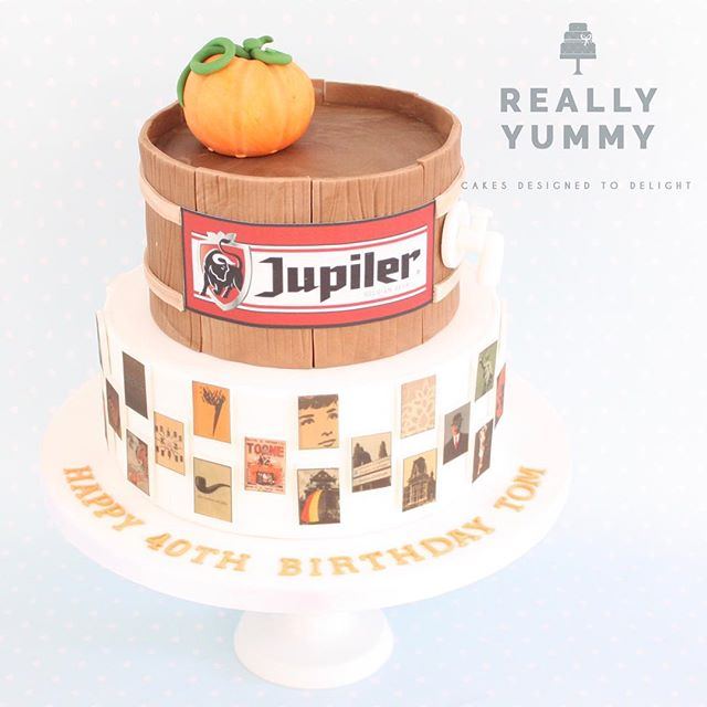 Belgium! Such a lovely theme for this cake! A beautiful collection of Belgium-related art around the bottom tier, plus a beer barrel and pumpkin from Tom's local town on the top.... lots of little reminders 😊 #belgium #jupiler #pumpkin #birthday #40thbirthday #reallyyummycakes #cakedesigner #bespokecakes #hampshirecakes #winchestercakes #cakes #winchester #hampshire #designercakes #designinspiration #designprocess
