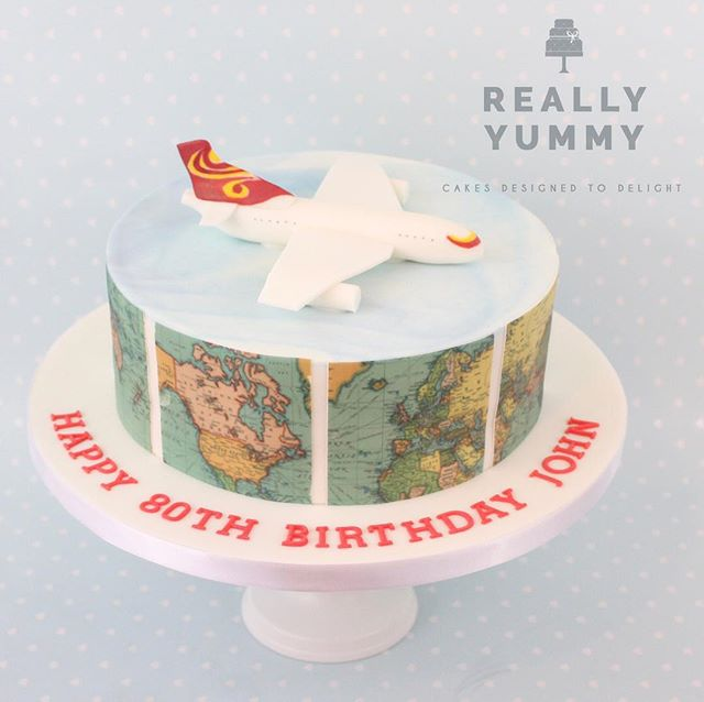 My last cake of 2017, for an aviation enthusiast. Interestingly, this prospective customer thought she needed a plain cake with Happy Birthday on it, as a theme would somehow not be right for an 80 year old. After chatting about my utter love of making themes work perfectly for every recipient, and suggesting she head across to my galleries for a wander, her creative juices started flowing, and she mentioned how much her husband loved aviation and had travelled the world. Hong Kong was a particular favourite, so I chose their airline's colours for the plane. It's a delicious fruit cake underneath too, so it could be collected early as they were travelling for the festive season. Loved it all 💕😊 #alledible #fruitcake #birthday #aviation #aeroplanes #hongkong #reallyyummycakes #cakedesigner #bespokecakes #hampshirecakes #winchestercakes #cakes #winchester #hampshire #designercakes #designinspiration #designprocess