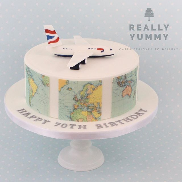 Another aviation cake, with edible aircraft, and portions of the world map around the sides 😊 #alledible #reallyyummycakes #cakedesigner #bespokecakes #hampshirecakes #winchestercakes #cakes #winchester #hampshire #designercakes #designinspiration #designprocess #aviationlovers #maps