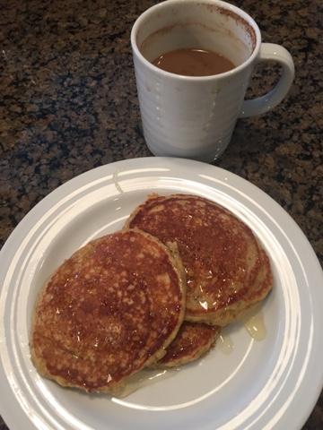 Banana Oat Chia Pancakes