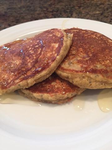 Banana Oat Chia Pancakes 2