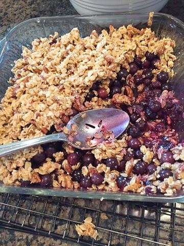 Blueberry Breakfast Crisp | Make This Food Blog