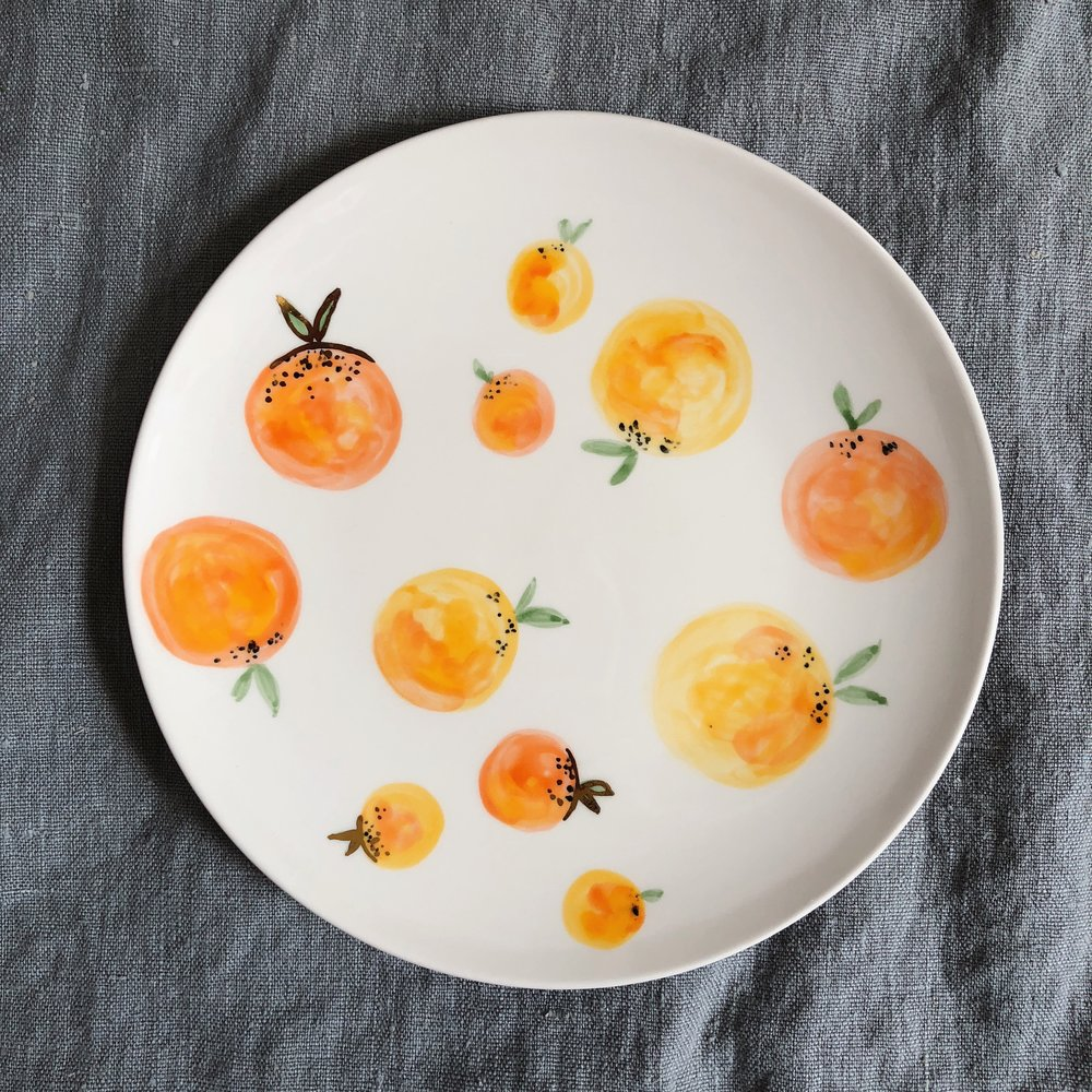 Large Clementine Plate