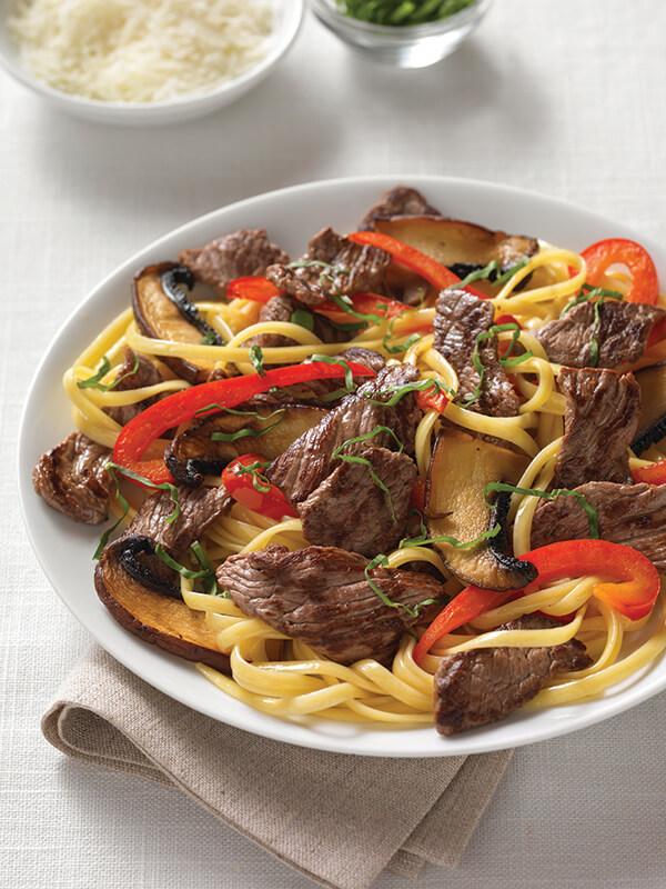 Beef Sirloin Pasta Portabello