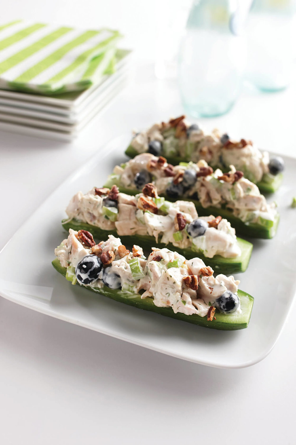 Dill Turkey Salad Cucumber Boats