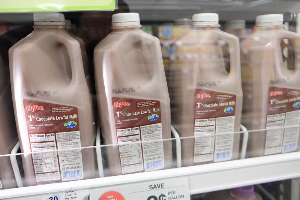Chocolate milk at Hy-Vee helps refuel muscles.