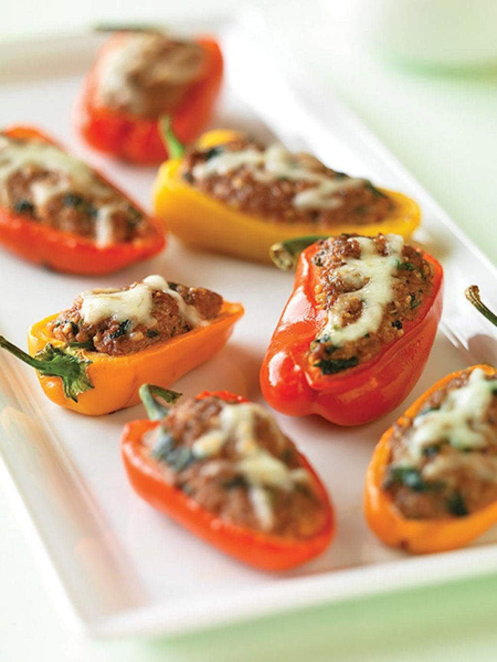 Beef and Couscous-Stuffed Baby Bell Peppers
