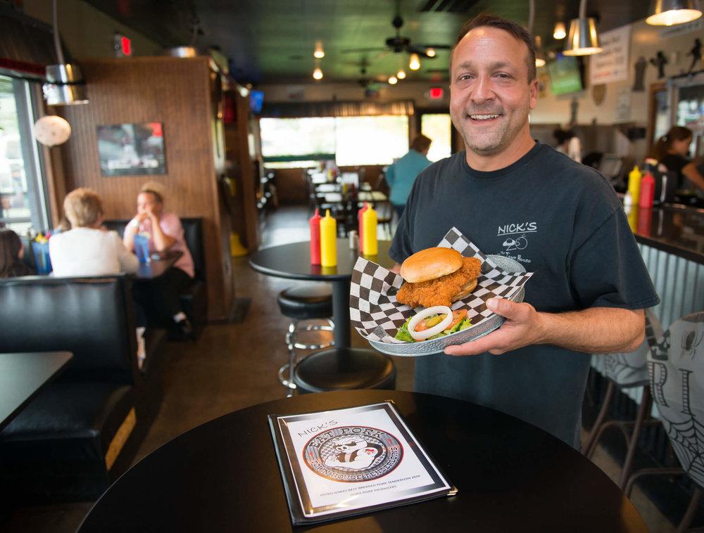 Nick's restaurant in Des Moines named Iowa's Best Tenderloin by IPPA.