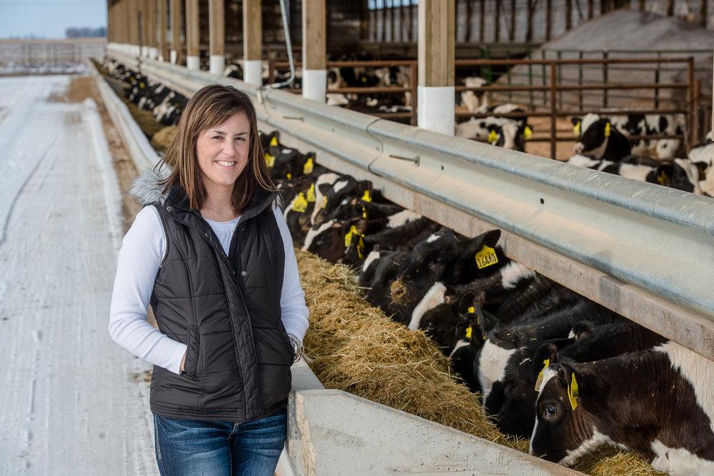Kellie Blair discusses livestock comfort on her farm.
