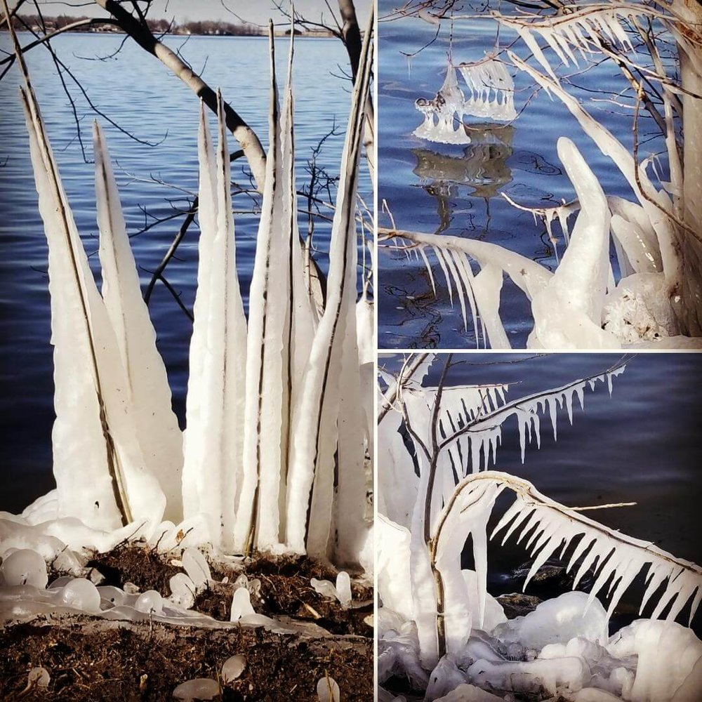 Mother Nature's ice sculptures at Black Hawk Lake.