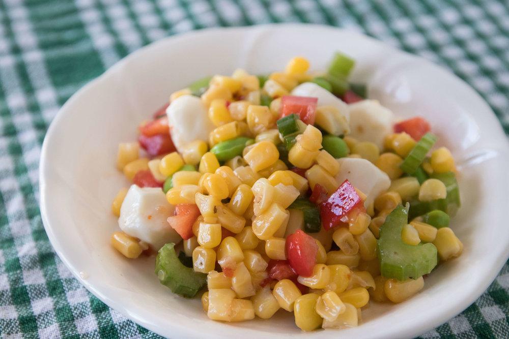 Zesty Sweet Corn and Mozzarella Salad