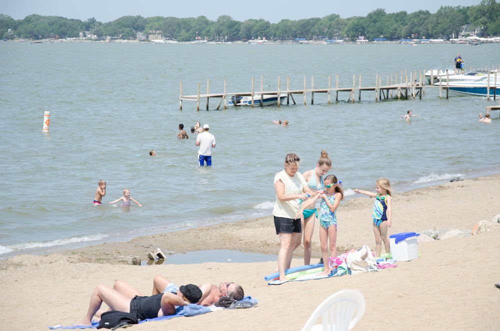 Enjoy some time at the Clear Lake beach or Clear Lake Yacht Club.