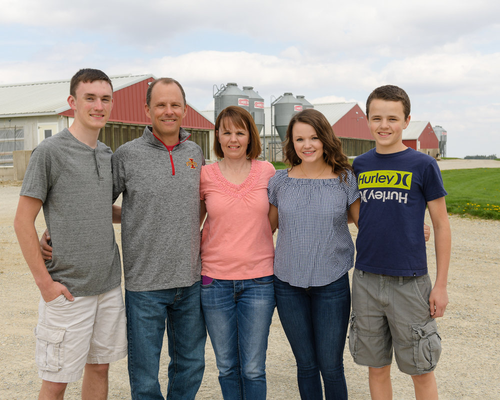 The Cook family, pictured from left to right: Spencer, Aaron, Trish, Holly and Kirby.