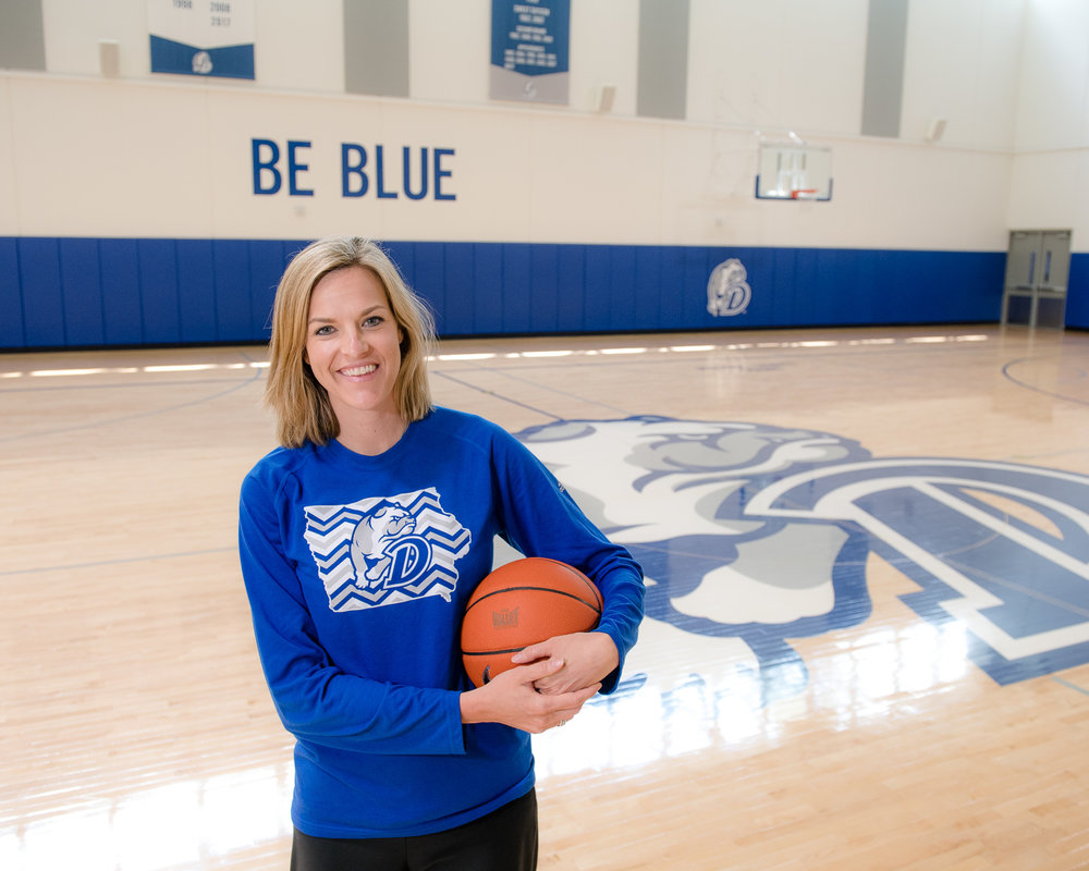 Jennie Baranczyk is the head coach of Drake University Women's Basketball. Photo credit: Joseph L. Murphy/Iowa Soybean Association