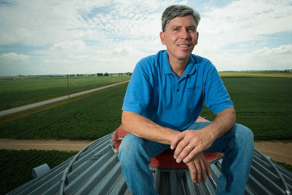 Mark Jackson is a farmer in Mahaska County. He shares his perspectives on trades and tariffs. Photo credit: Joseph L. Murphy/Iowa Soybean Association