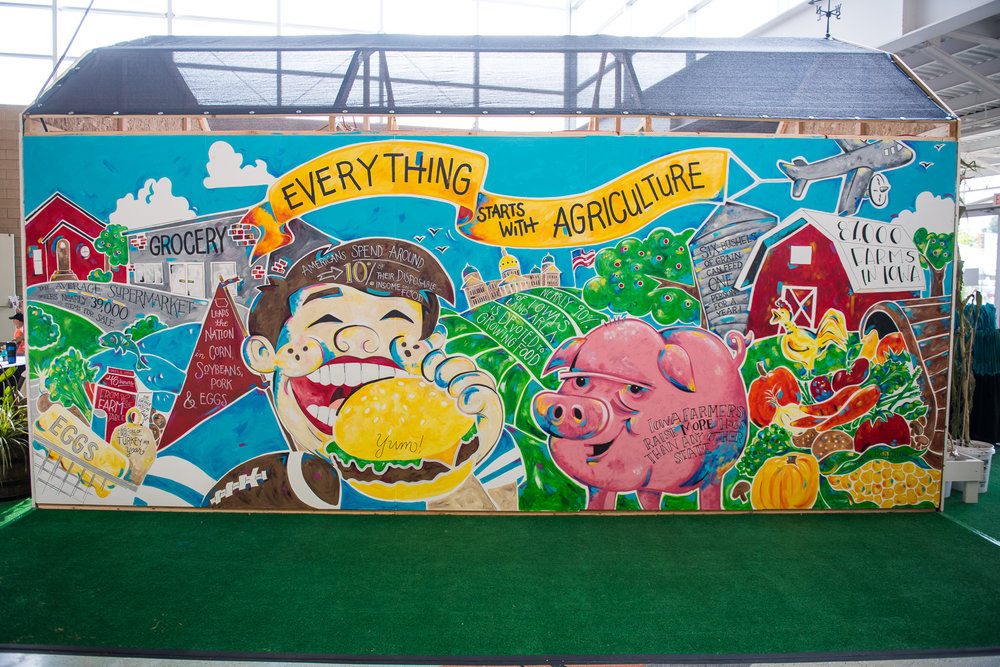 The completed 'Everything Starts with Agriculture' mural. Photo credit: Joseph L. Murphy/Iowa Soybean Association