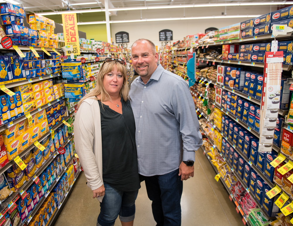 Brian and Mary Lohse are the owners of Brick Street Market in Bondurant. Photo credit: Joseph L. Murphy/Iowa Soybean Association
