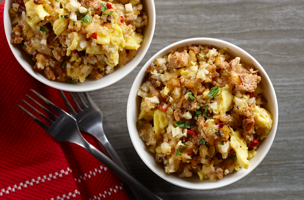 This heart-healthy hash is a great breakfast option to fuel up for Thanksgiving festivities or can be a unique side. Photo credit: Iowa Egg Council