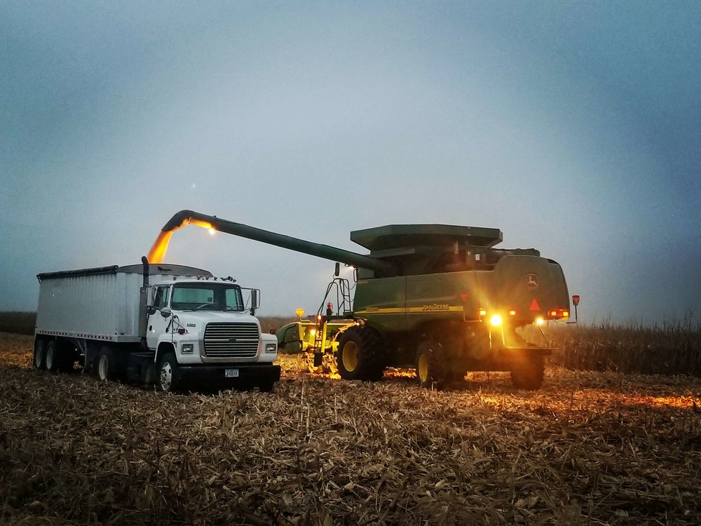 Corn and soybean harvest moves at full speed for farmers across Iowa. Photo credit: Darcy Dougherty Maulsby