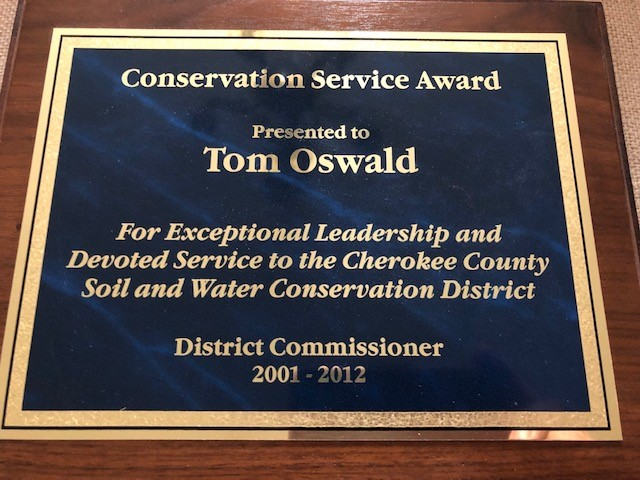 Tom has served as district commissioner of the Cherokee County Soil and Water Conservation District. Photo credit: Tom Oswald