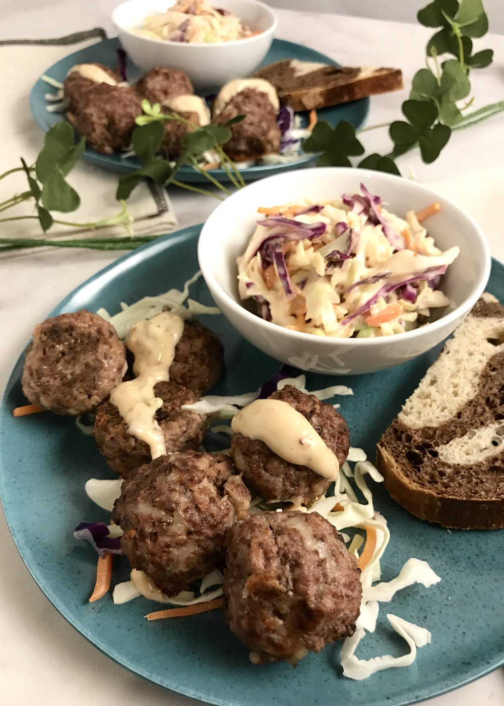 Reuben meatballs bring together the flavors of March in a tasty bite. Photo credit: Anita McVey/Picnic Life Foodie