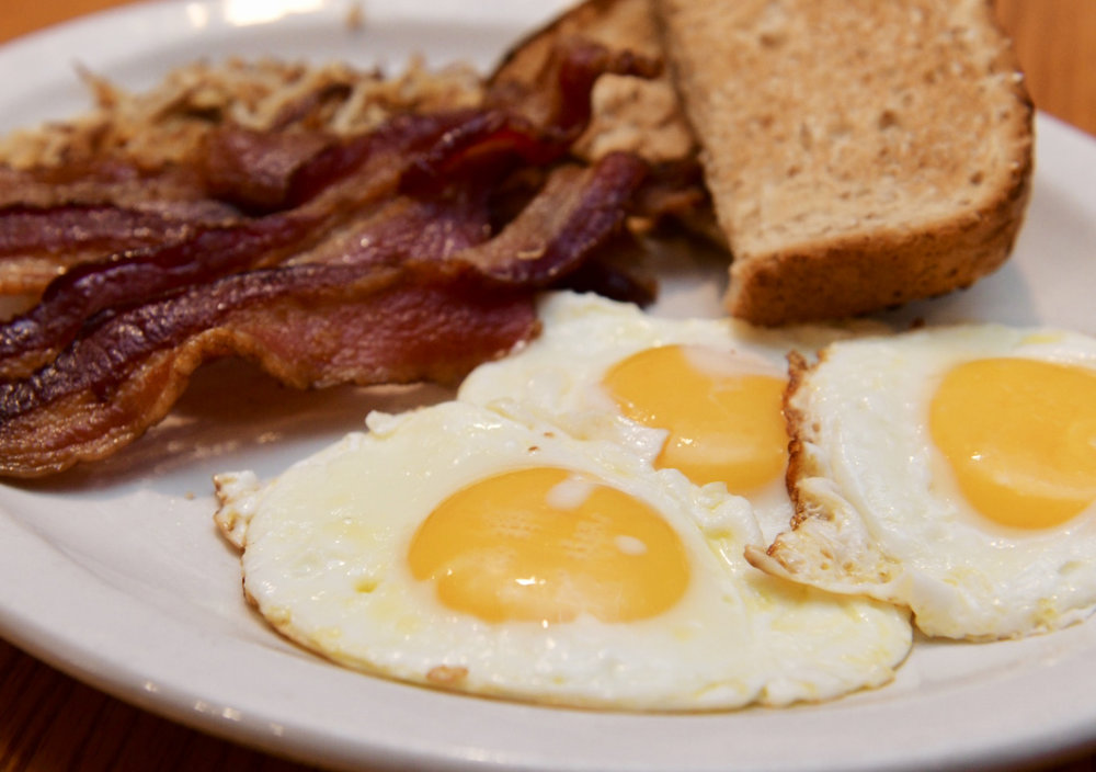 The Machine Shed restaurant in Urbandale serves up a hearty portion of Bacon and Eggs. Photo credit: Joseph L. Murphy/Iowa Soybean Association