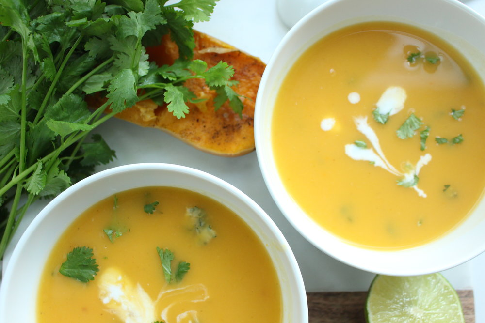 Thai coconut butternut soup.JPG