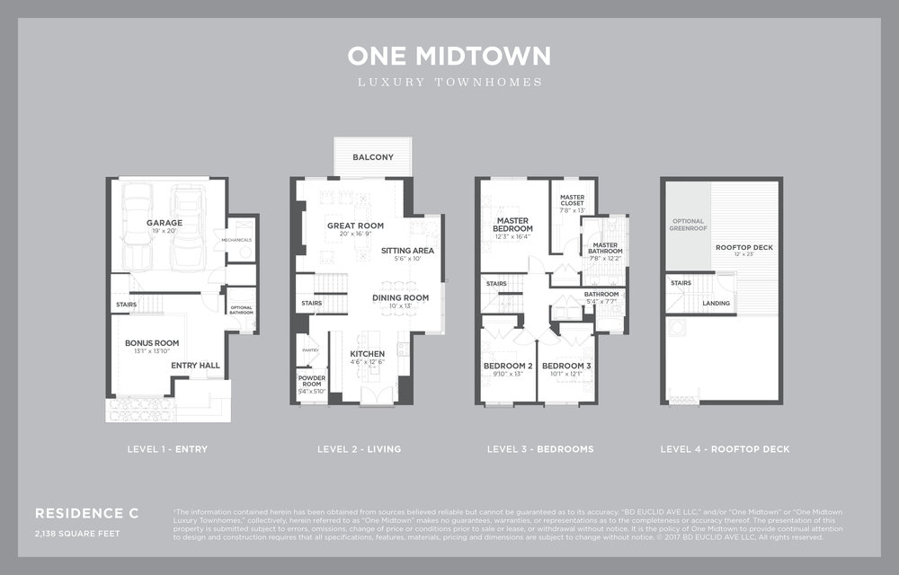 ONE MIDTOWN - Residence C, 2,238 sf