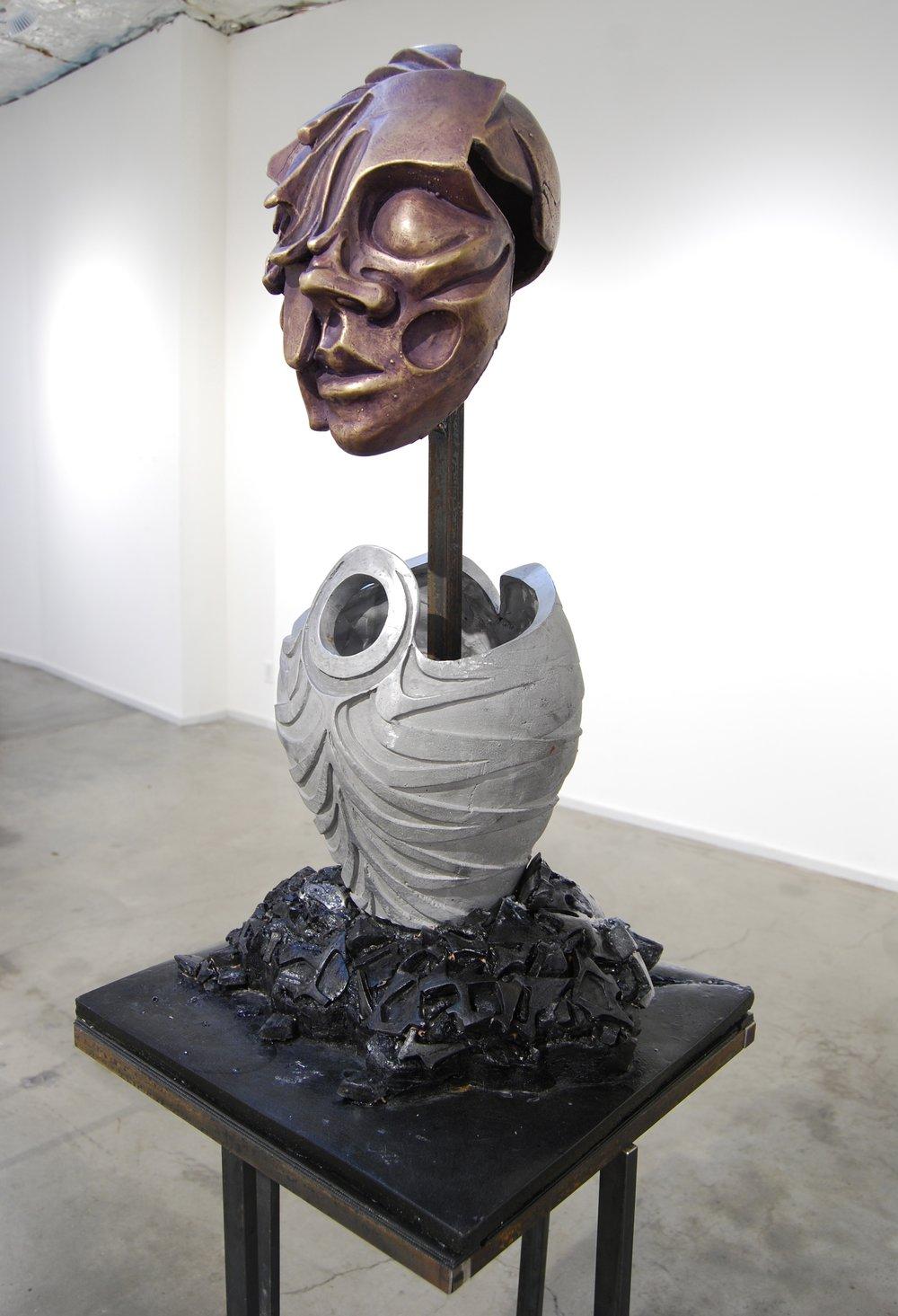 """Humira - bronze, aluminum, plastic, steel  2013   75""""x18""""x18"""" #4  .jpeg"""