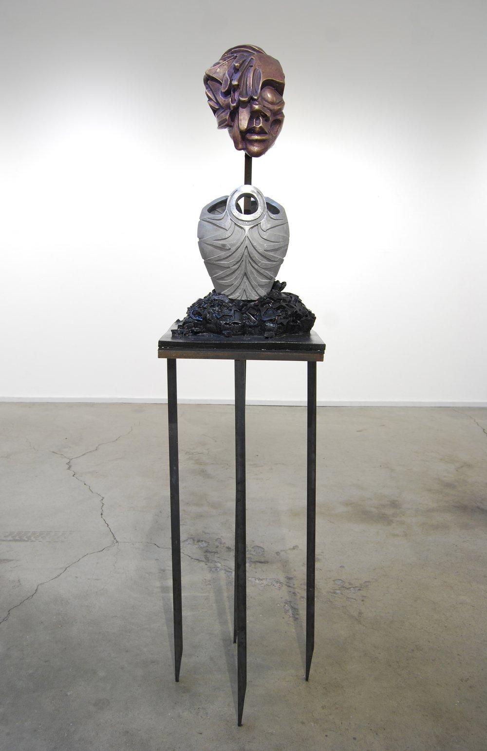 "Humira - bronze, aluminum, plastic, steel  2013, 75""x18""x18""  .jpg"
